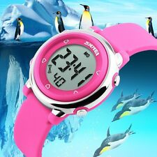 Child Boy Girl Digital Watch LED Backlight Silicone Chronograph Sport Waterproof