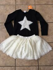 NWT Gymboree Starry Night Star Black Sweater and Tulle Tutu Skirt 2pc Set Girls