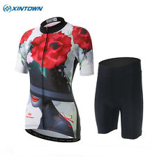XINTOWN Sports Women Cycling Wear Bike Short Sleeve Clothing Sets Jersey Shorts