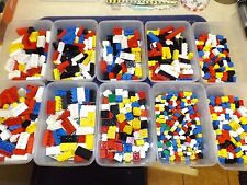 MIXED  LOTS LEGO HAND SORTED BRICKS 4X2 3X2 2X2 2X1 .SOME VINTAGE 100 PARTS