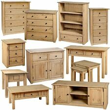 Furniture Oak Effect Pine Chest Drawers Bookcase TV Unit Coffee Table Console