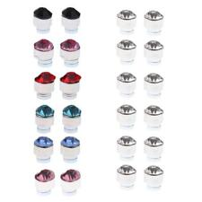 Colorful Rhinestone 12 Pairs Mixed Color Magnets Earrings No Piercing Ear Stud