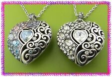 BRIGHTON ECSTATIC HEART Crystal NECKLACE NWtag CRYSTAL or MULTI COLORS $88
