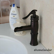 Solid Brass One Hole Basin Mixer Tap Waterfall Bathroom Sink Vessel Faucet