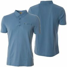 Gabicci Mens Blue Polo Shirt Short Sleeved Designer Button Up Collared Top S-L