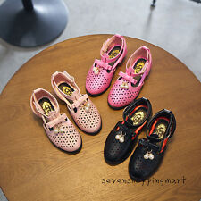 New Toddler Girls Summer Sandals Fashion Low-heel Shoes Leather Sandals Size