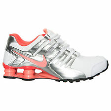 Women's Nike Shox Current Running Shoes White/Bright Mango/Metallic 639657 161