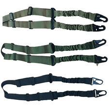 Tactical Dual 2-Point Outdoor Adjustable Bungee Rifle Gun Slings Straps Lanyard