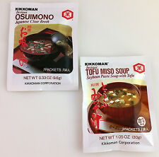 KIKKOMAN Instant Tofu MISO SOUP, Instant OSUIMONO (Clear broth) / 3 packets