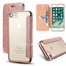 Bling Glitter Leather Flip Case Silicone Cover Wallet for iPhone 6s 7 7 plus