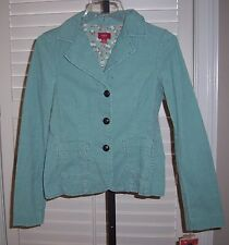 New MOSSIMO Women's Jacket Size S Corduroy Button Front Cotton Green Small