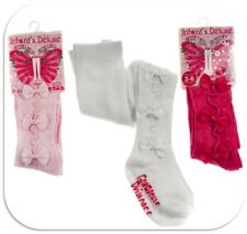 Soft Touch Baby Girls Tights Pretty Bows Design 0-18 Months Choice of 3 colours