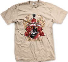 Rock N' Roll Cowgirl Guitar Roses Wings Country Band Horse Singer Men's T-Shirt