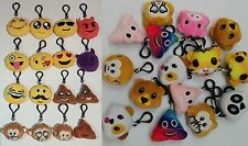 50pcs Emoji Keyring Amusing Yellow Cushion Stuffed Soft toy novelty Keychain