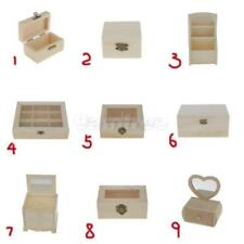 Fashion Unpainted Plain Wooden Jewelry Storage Display Box Case Gift Wood Craft