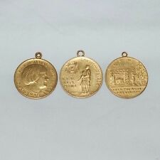 Lot of 3 VFW National Home Christmas Charms Tokens * 1933 1934 1935