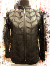 Black Leather Leaf Jacket for Women All Colors All Regular Sizes Available