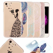 Pattern Rubber Soft TPU Silicone Slim Phone Case Cover For iPhone 5 6 6S 7 Plus
