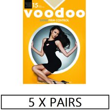 WOMENS 5 PACK VOODOO Shine Firm Control Sheers Stockings Shapewear Tights
