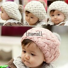 Hot  Cute Winter Knit Crochet Beanie Hat For Baby Kids Girls Boys Gift 3 LM01
