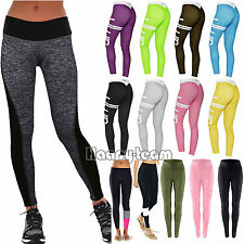 Women High Waist Yoga Fitness Leggings Running Sports Gym Stretch Pants Trousers