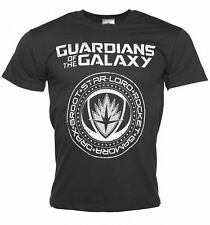Official Men's Charcoal Guardians of The Galaxy Crest Logo T-Shirt