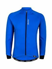Santini Turquoise Ora Thermofleece Long Sleeved Cycling Jersey