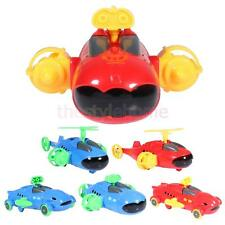 Plastic Pull Back Assembled Red/Blue Plastic Ship/Plane/Car Kids Model Toy