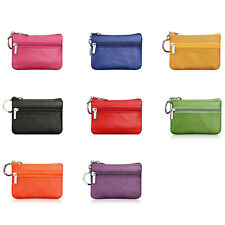 1PC Mini Leather Small Zip Coin Purse Key Ring Party Wallet Purse Bag 8Color