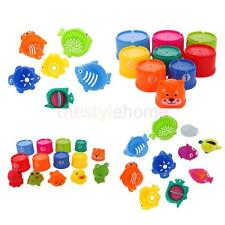 Lot Baby Kids Stacking Bathing Toys Figures Numbers Folding Cups Stacking