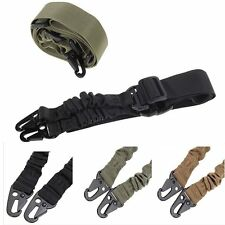 Adjustable Hunting 1 One Point Rifle Sling Bungee Tactical Shotgun Strap SysteBX