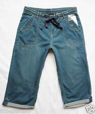 BNWT NEXT new Ladies mid blue wash relaxed leg sof denim crop jeans size 6 & 10