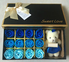 Soap Flower teddy bear Petals Valentine Wedding Mothers Day  birthday Gift Box
