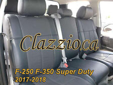 2017-2018 FORD F250 F350 SUPER DUTY | CLAZZIO LEATHER SEAT COVER (1ST+2ND ROWS)