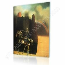 Alonline Art - CANVAS (Rolled) Horseman Of Death Salvador Dali Painting