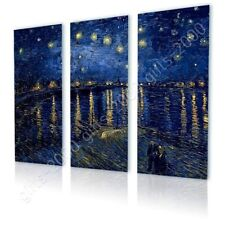 CANVAS (Rolled) Starry Night Over The Rhone Vincent Van Gogh 3 Panels Art