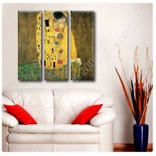 Alonline Art - POSTER Or STICKER Decals Vinyl The Kiss Gustav Klimt 3 Panels