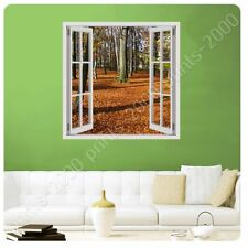 Alonline Art - POSTER Or STICKER Decals Vinyl Fallen Leaves In Poland Fake 3D