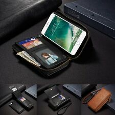 PU Leather Strap Cash Clutch Wallet Card Case Cover For Apple iPhone 6 6S 7 Plus