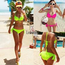 Women's Sexy Padded Bra Bikini Suit Swimsuit Swimwear Bathing Bandeau Hot LM02