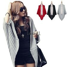 Lady Batwing Casual Loose Sweater Coat Knitting Long Cardigan Shawl Outwear LM01