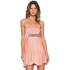 Women Fashion Sexy Strapless Sleeveless Off Shoulder Backless Stretch Solid LM02