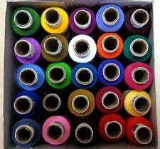 25 Hand Machine Stitching SEWING THREAD SPOOLS 327 yds COATS SALE SET 1 #15ZZH