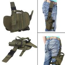 Hunting Tactical Puttee Thigh Leg Pistol Gun Holster Pouch Wrap-around HG T3Z1