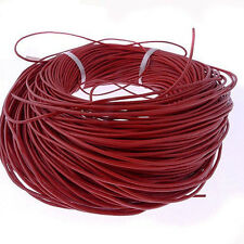 5-100 Meters Round genuine real Red leather cords jewelry making 2mm
