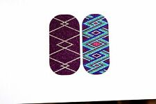 NEW CATALOG Jamberry Nail Wraps Custom Mixed Sparkle Pedicure ~ Uptown Girls