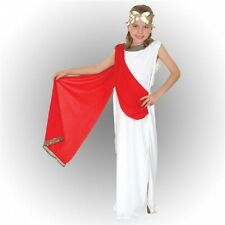 Girls Goddess Fancy Dress Costume Greek Roman Toga Party Childs Kids Outfit