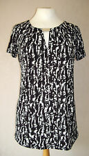 BN George - size 8 - 22 - monochrome black/ white abstract print tunic TOP BNWoT