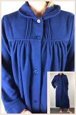 Ladies Givoni (90) Polar Fleece Dressing Gown Midlength Robe Royal Navy Blue (sz
