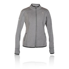 Pure Lime Womens Grey Long Sleeve Full Zip Athletic Running Jacket Top